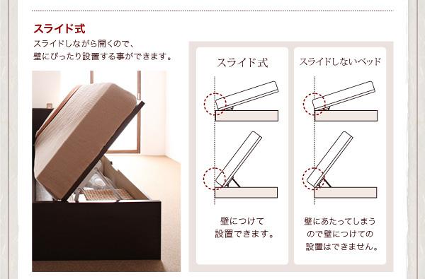 ガス圧式跳ね上げ収納ベッド【夕月】ユフヅキ:商品説明12