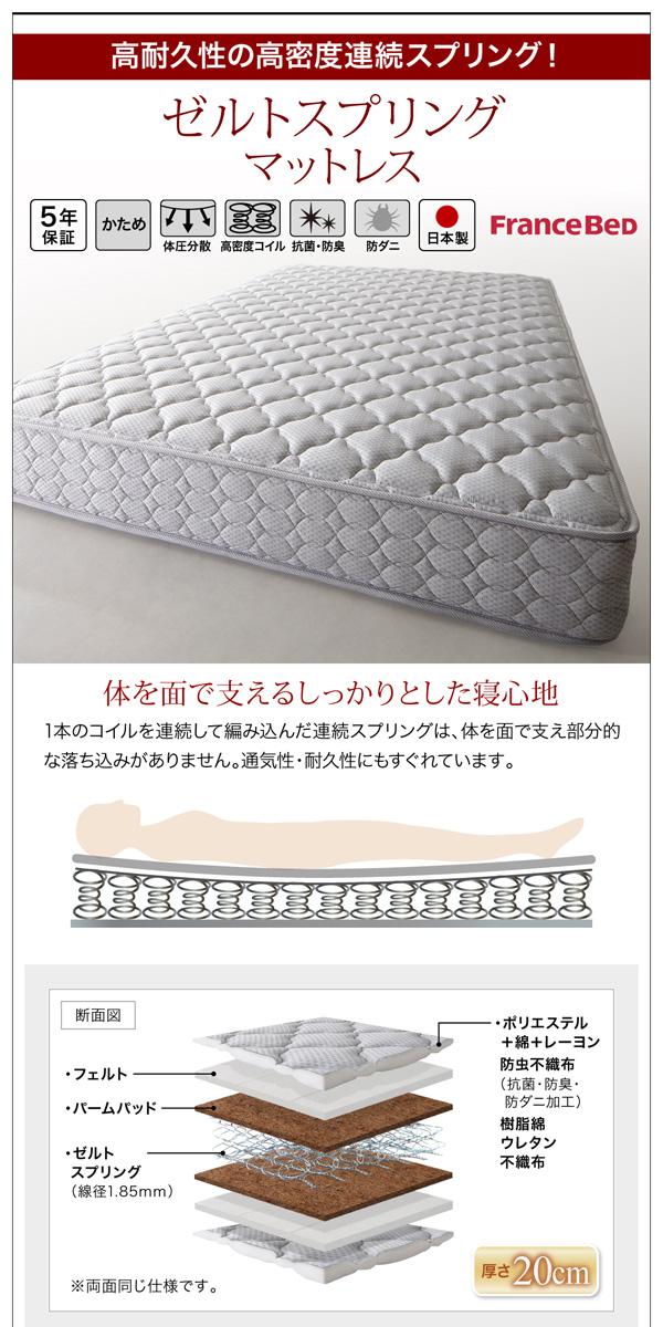 ガス圧式跳ね上げ収納ベッド【夕月】ユフヅキ:商品説明38