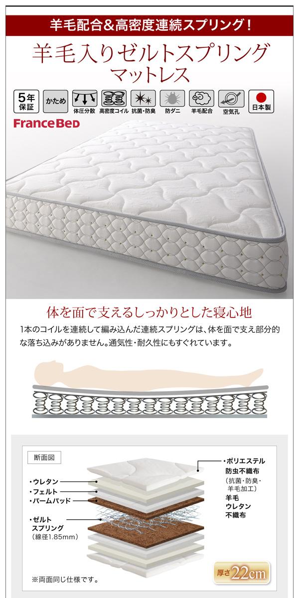 ガス圧式跳ね上げ収納ベッド【夕月】ユフヅキ:商品説明40